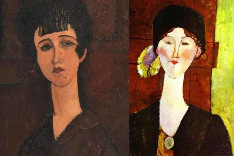 英國的泰特美術館日前發現,莫迪利亞尼的《一個女孩的肖像》經X光照射後,底下竟藏有另一位女子。(圖/Tate facebook、wikimedia commons)