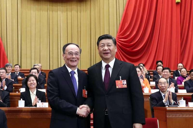 中國國家主席習近平、副主席王岐山(AP)