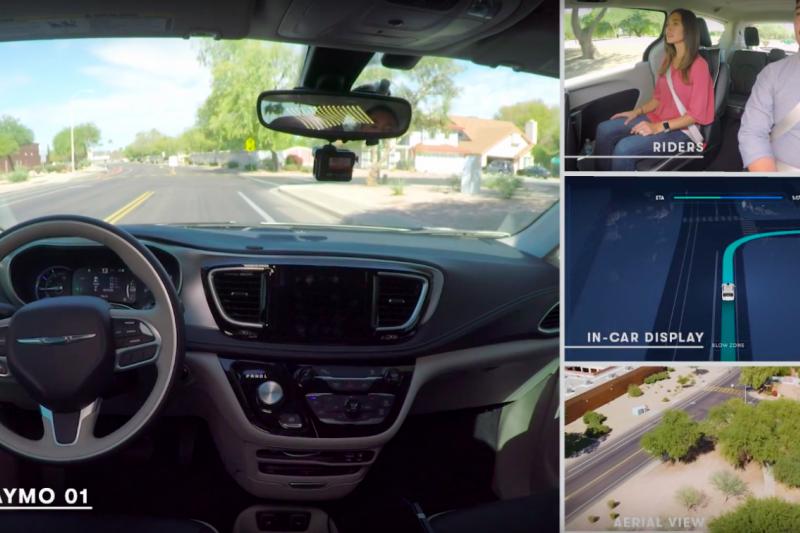 亞利桑那州是美國唯一一州開放沒有人類監管駕駛的無人車測試,Waymo也已經在此推出無人車叫車服務。(圖/截自Waymo Youtube)