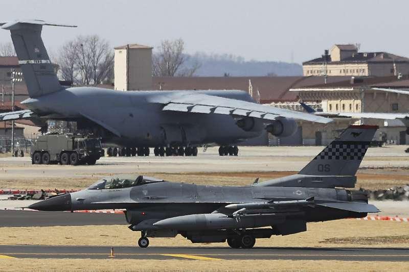 駐韓美軍F-16戰機(AP)