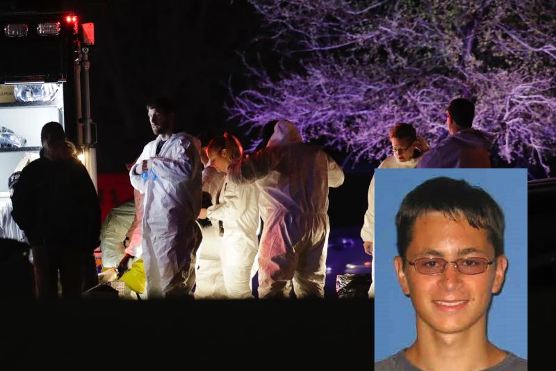 德州連環炸彈客康迪特21日自爆身亡後,鑑識人員在現場調查案發經過。(美聯社)