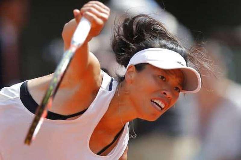 謝淑薇昨天在廣島女網賽首輪,以4比6、6比1、6比3挺進16強。(資料照,美聯社)