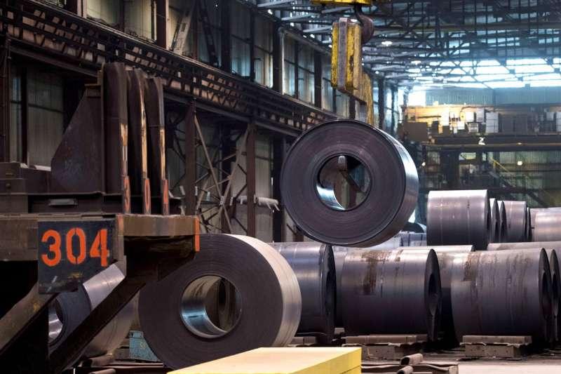 加拿大的鋼鐵廠。(美聯社)