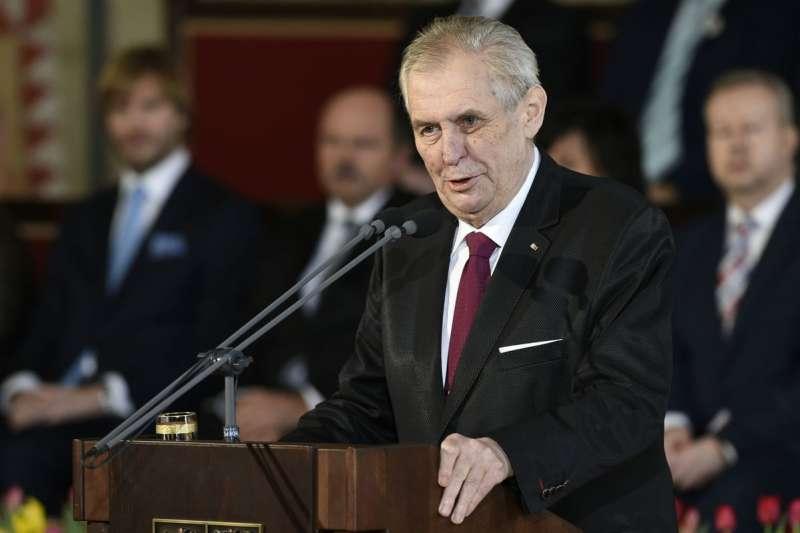 捷克總統澤曼(Milos Zeman)(AP)