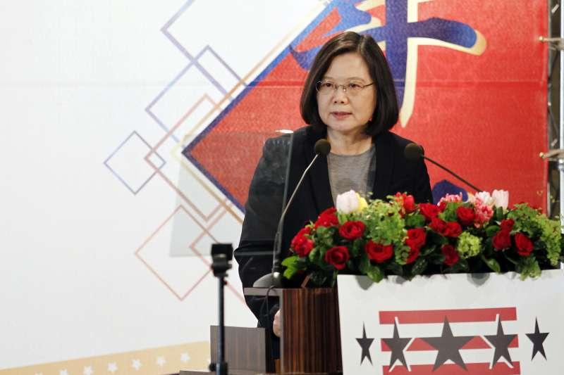 2018年3月21日,台北市美國商會2018謝年飯,美國商會今(22日)舉辦一年一度的謝年飯,總統蔡英文出席(AP)