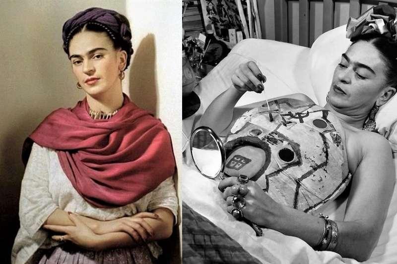 墨西哥的傳奇女畫家Frida Kahlo一生坎坷,而這些痛苦卻成為她創作的養分。(圖/言人文化提供)