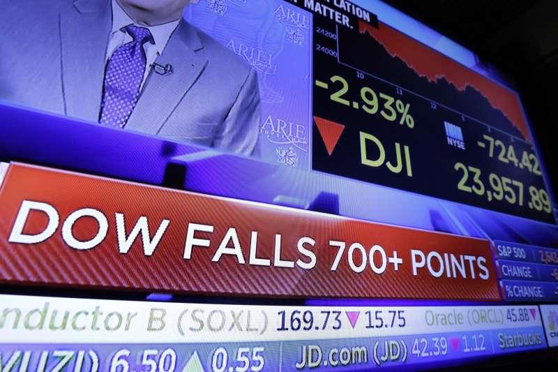 美股持續重挫,華爾街愁雲慘務(AP)