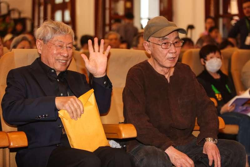 20180325-424刺蔣案當事人鄭自才、黃文雄25日出席「黃晴美天涯人間紀念座談會」。(顏麟宇攝)