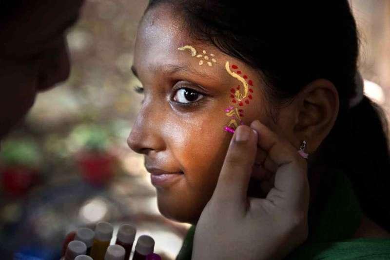 印度女性上街爭取女性人權。(美聯社)