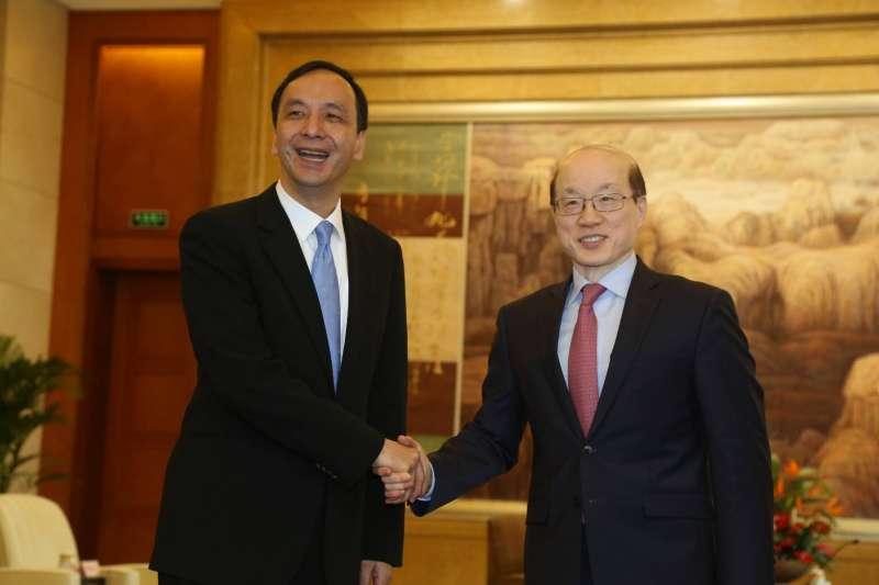 中國國台辦主任劉結一26日與新北市長朱立倫舉行「朱劉會」。(新北市政府提供)