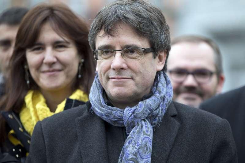 加泰隆尼亞自治區前主席普吉德蒙25日遭到德國警方逮捕。(美聯社)