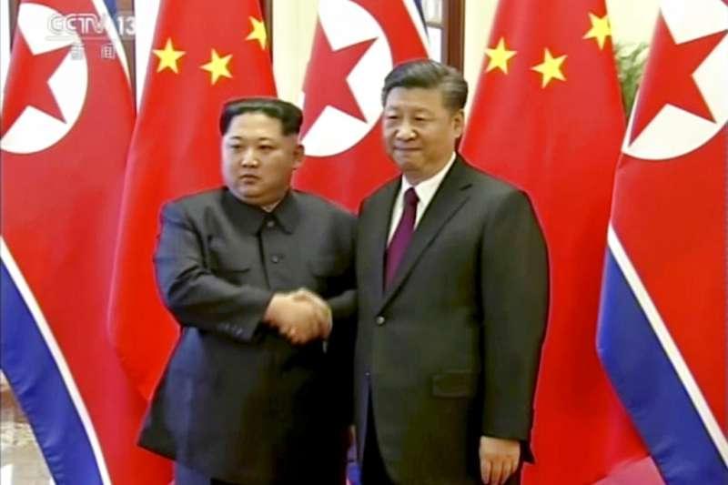 金正恩日前訪問中國,與習近平會談。(美聯社)