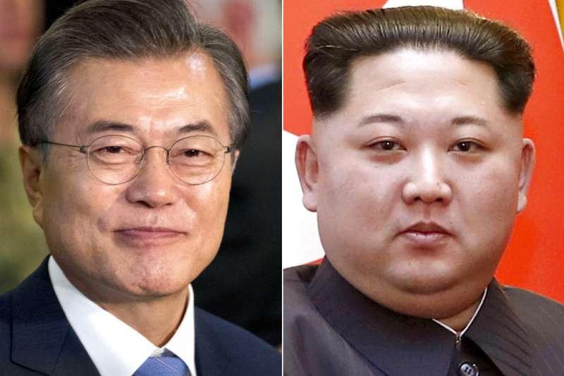 文金會、南北韓峰會、文在寅、金正恩。(美聯社)