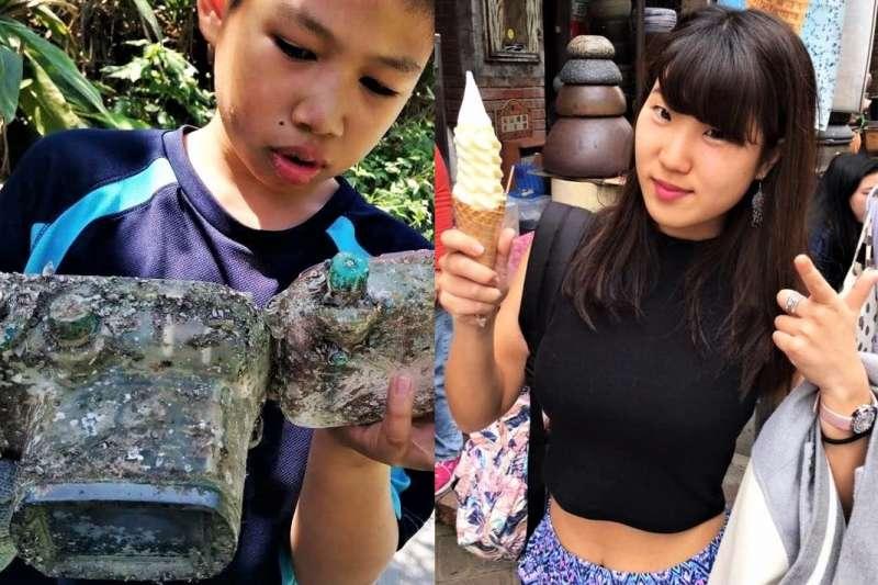 宜蘭岳明國小學童去年在淨攤時,撿到日本女大學生椿原世梨奈3年前在石垣島遺失的相機,結下奇緣,這些小學生在東京表演布袋戲訴說這段奇緣並提倡海洋環保意識。(圖/取自Park Lee臉書)