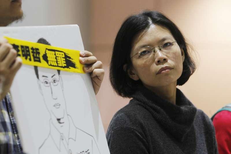 李凈瑜23日前往中國,告知丈夫李明哲其父親逝世的消息,並希望中共當局能讓李明哲回台奔喪。(資料照,AP)