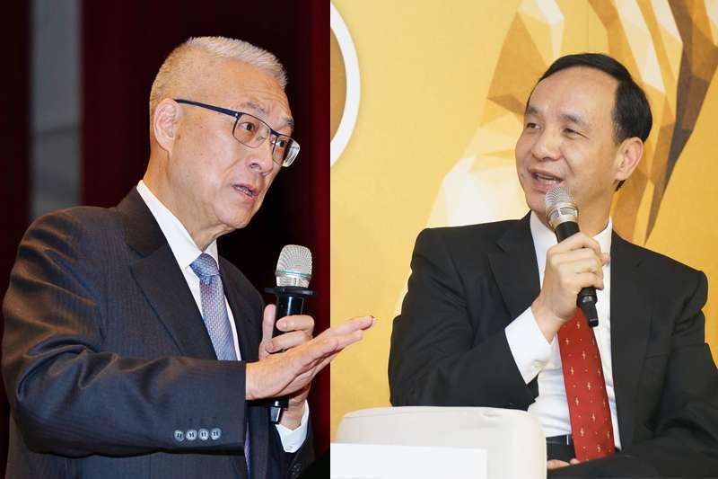國民黨角逐2020總統選舉,黨主席吳敦義(左)、前新北市長朱立倫(右)都是熱門人選。(資料照,盧逸峰攝/影像合成:風傳媒)