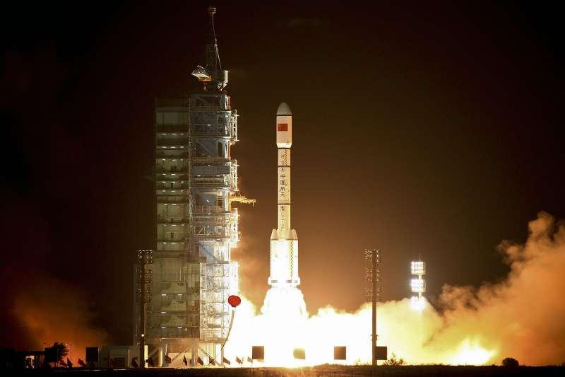 中國太空站「天宮一號」2011年9月29日發射升空(AP)