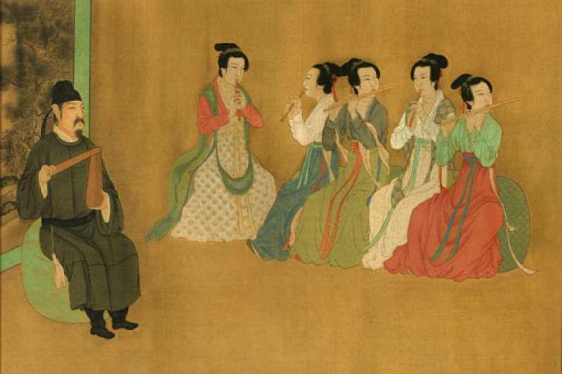 在唐代,常常可見到長安裡的大都市酒樓、餐館或旅館內的酒場與歌廳裡,胡姬盛裝打扮。(圖/取自維基百科)