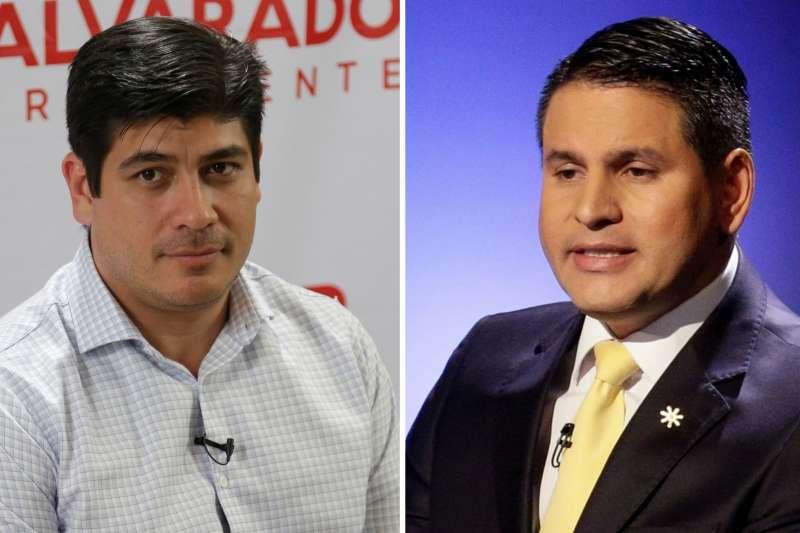 哥斯大黎加1日舉行綜統大選投票,奎沙達(左)擊敗穆諾茲(右)(美聯社)