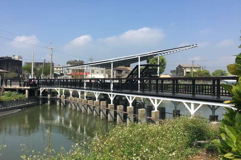 雲林縣「好收社區活動中心後方水池周邊綠美化改善工程」日前已全部完工。(圖/雲林縣政府提供)