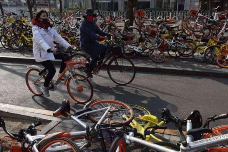 中國的共享單車系統。(BBC中文網)