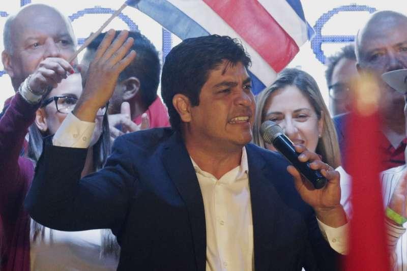 2018年4月1日,38歲的阿爾瓦拉多當選為哥斯大黎加總統。(美聯社)