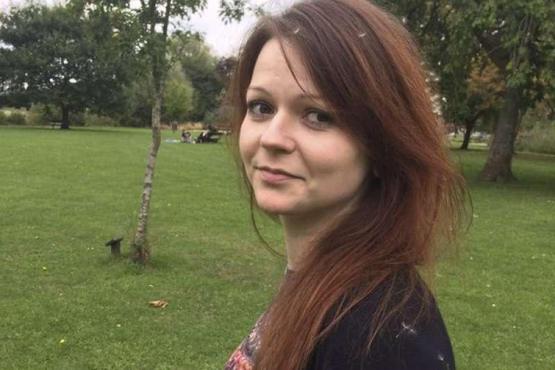 前俄羅斯間諜斯克里帕爾的女兒尤莉亞5日透過倫敦警方發表聲明,表示自己的體力逐漸恢復(美聯社)