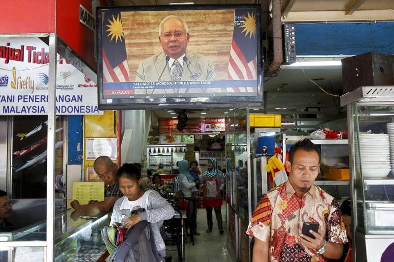馬來西亞總理納吉6日宣布將解散國會,60天內全面改選。(AP)