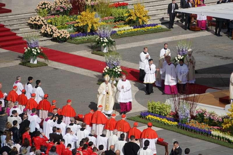 教宗親自主持復活節的彌撒。(Teresa Tseng攝)