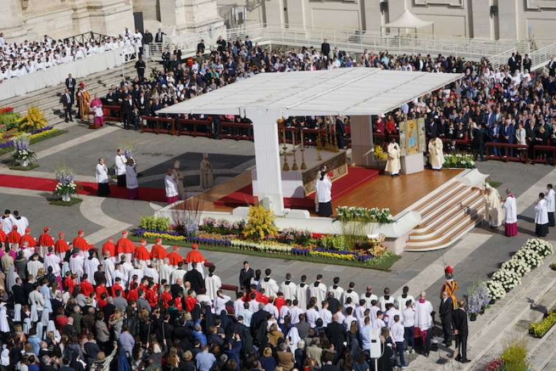 教宗主持彌撒。 (Teresa Tseng攝)