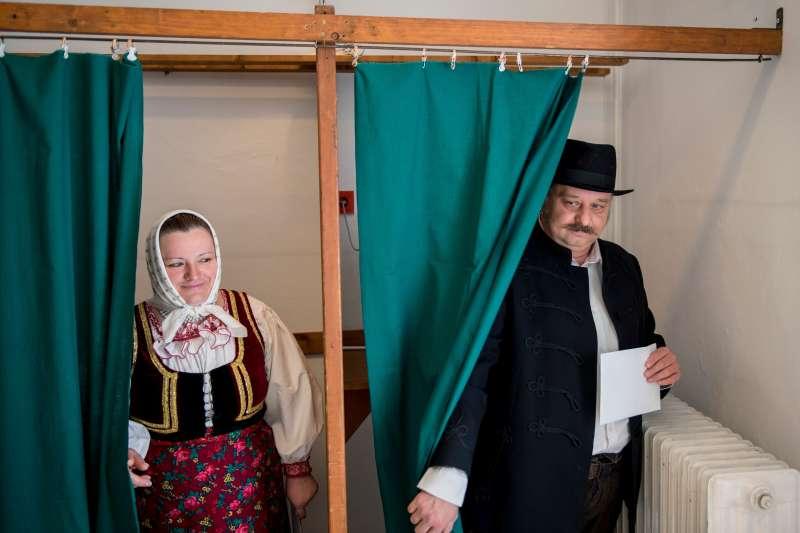 匈牙利舉行國會大選,執政黨青年民主主義者聯盟獲得壓倒性勝利。(美聯社)