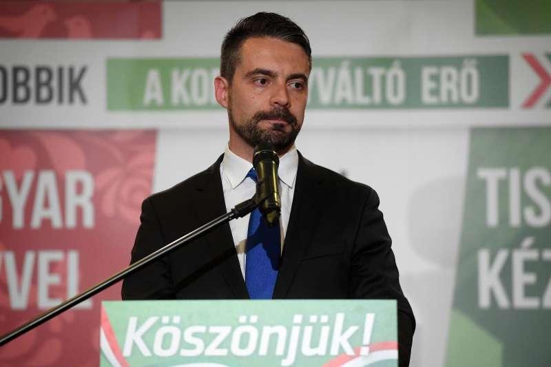 更好的匈牙利運動(Jobbik)主席佛納宣布請辭,為選舉失利負責。(美聯社)