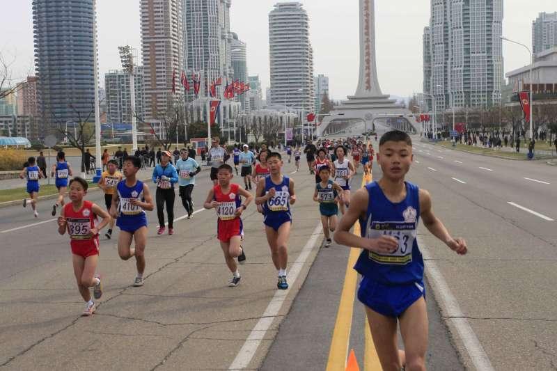 平壤馬拉松為北韓一年一度的體育盛事之一。(美聯社)