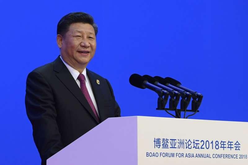博鰲論壇看中美貿易戰已見緩和,圖為中國國家主席習近平在博鰲論壇開幕發表演說(AP)