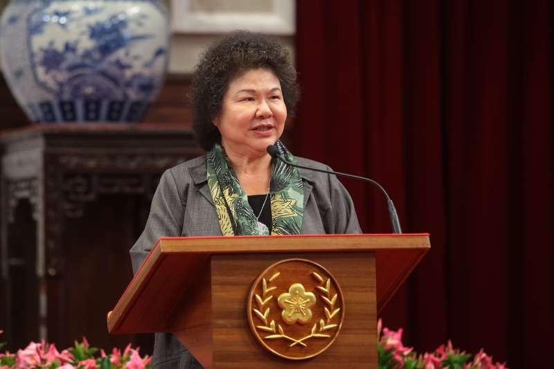 20180411-準總統府秘書長陳菊11日出席「總統府茶會」。(顏麟宇攝)