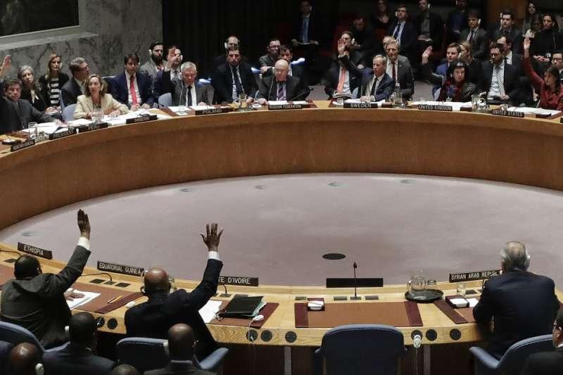 安理會討論調查敘利亞動用化武,但遭俄國否決。(美聯社)