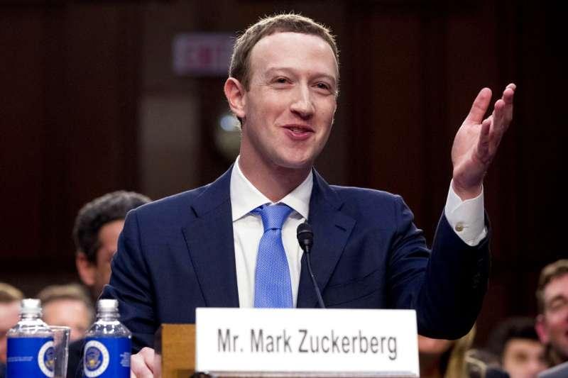 英國國會5日公布取得的臉書內部文件,質疑臉書未認真看待用戶個資。圖為臉書執行長祖克柏(Mark Zuckerberg)出席美國聯邦參議院舉辦的聯席聽證會。(AP)