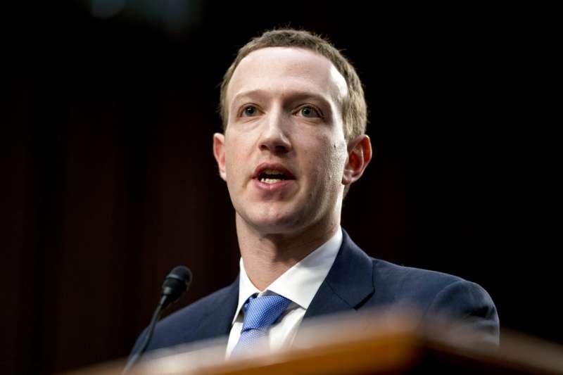 2018年4月10日,臉書執行長祖克柏(Mark Zuckerberg)出席美國聯邦參議院舉辦的聯席聽證會,試圖為臉書的醜聞止血。(AP)
