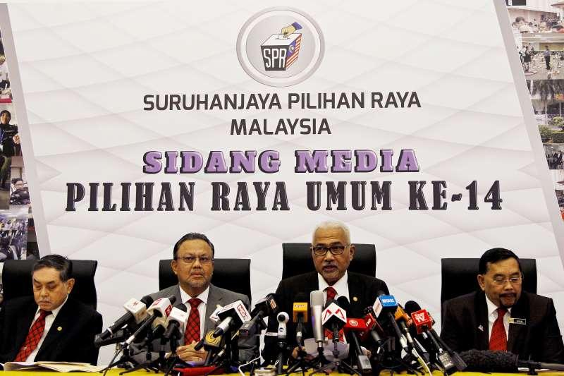馬來西亞選舉委員會公佈提名及投票日期。(美聯社)