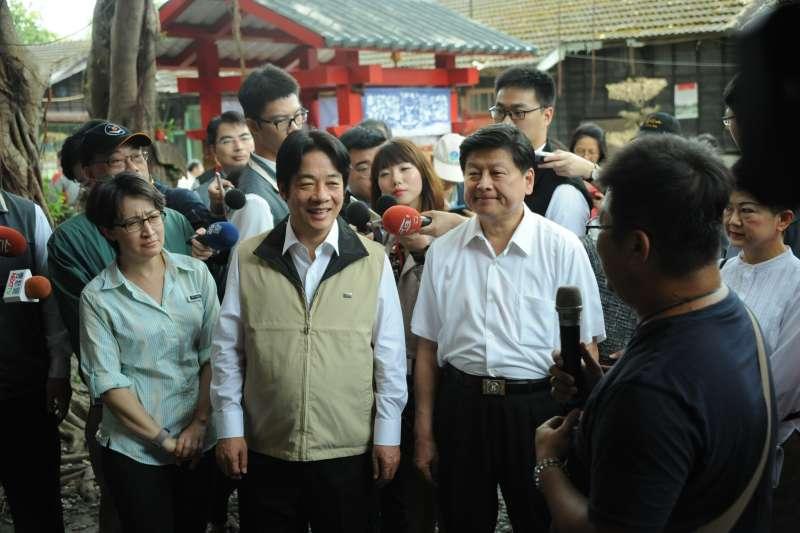 行政院長賴清德今(14)日率媒體參訪花蓮。(行政院提供)