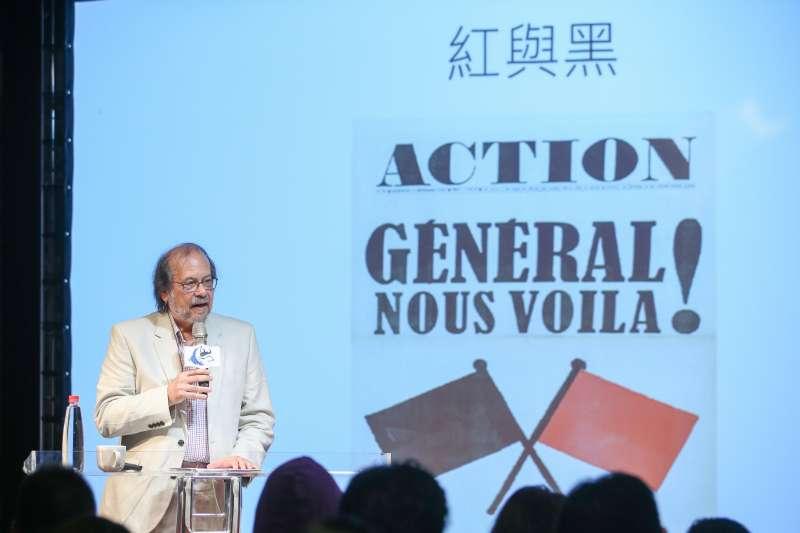 20180415-思沙龍:「1968五月風暴-曾是巴黎學運青年,今天怎麼說?」講座,曾是巴黎學運的青年-潘鳴嘯教授主講。(陳明仁攝)