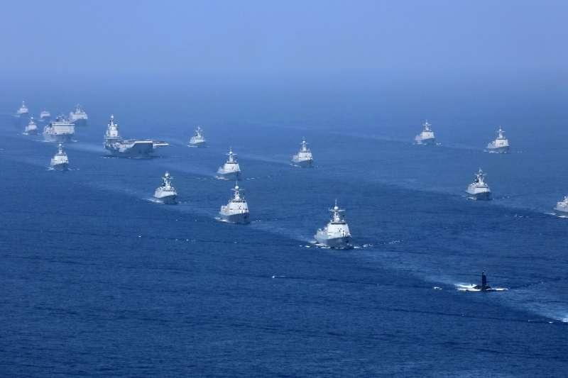 2018年4月,中國在南海進行號稱史上規模最大的海上閱兵(AP)