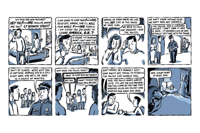 2018年普立茲獎揭曉,《紐約時報》以記錄一個真實難民家庭的艱苦日常生活拿下「評論漫畫獎」(AP)