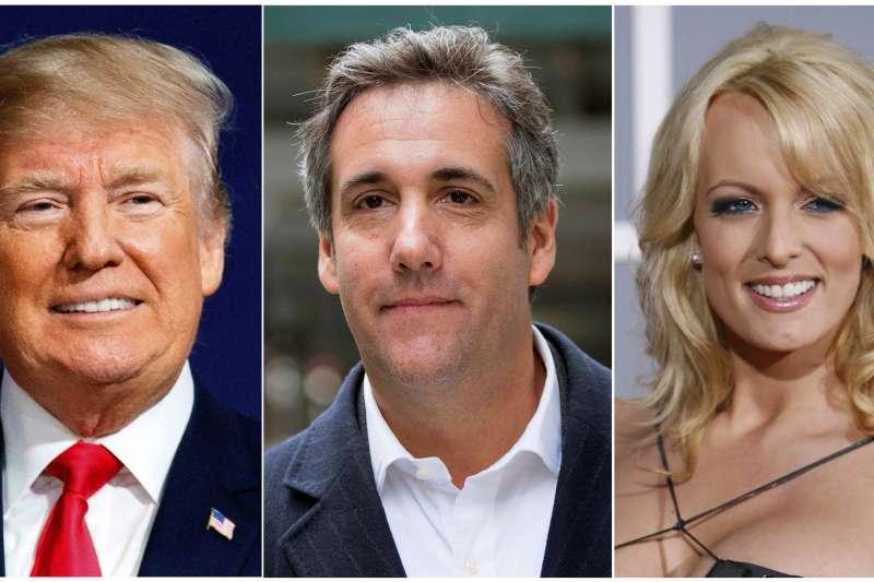 美國總統川普、律師柯恩與AV女優「暴風女丹妮絲」的競選經費與封口費法律爭議(AP)