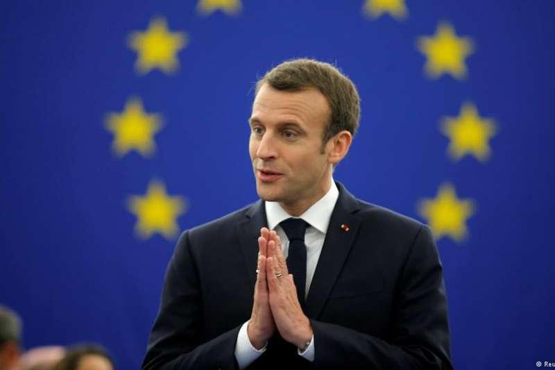 馬克宏說,歐洲存在「一種近乎內戰的」威脅,以及一種「對非自由主義的嚮往」。(德國之聲)