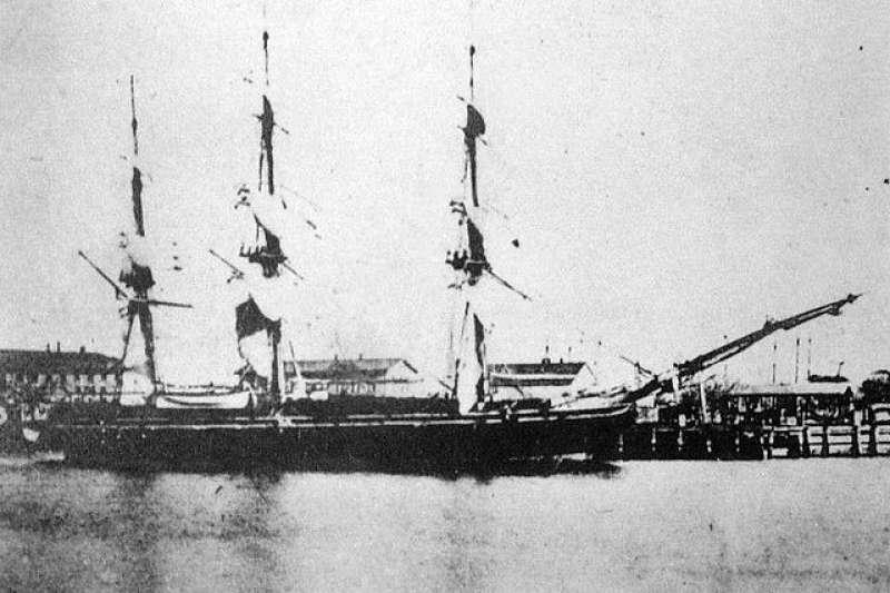 alishan-s1cblock52:幕末時期黑船事件的主角之一,美國薩拉托加號。(取自維基百科)