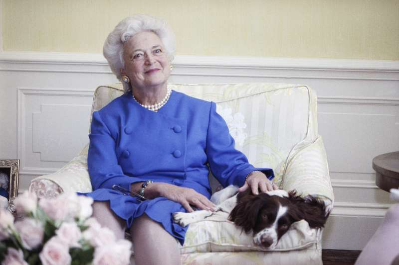 美國前第一夫人芭芭拉.布希(AP)