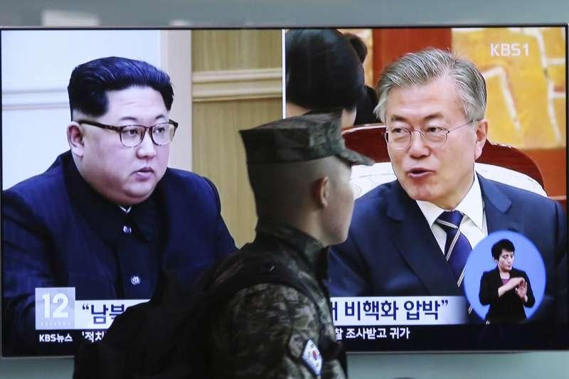 南韓青瓦台宣布,南北韓同意直播文金會(AP)
