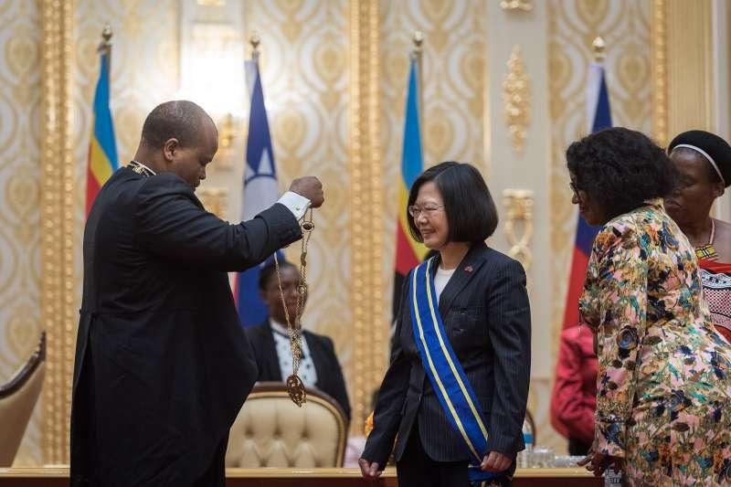 總統蔡英文出訪非洲友邦史瓦濟蘭。(總統府提供)