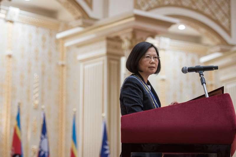 對於中共軍機頻繁擾台,目前出訪史瓦濟蘭的總統蔡英文表示,台灣社會並沒有因此陷入不安,政府也都有做應該做的事情。(資料照,總統府提供)